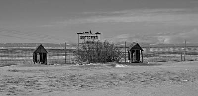 Art Print featuring the photograph Savageton Cemetery  Wyoming by Cathy Anderson