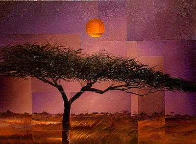 Painting - Savane by Laurend Doumba