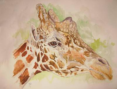 Savanna Giraffe Art Print