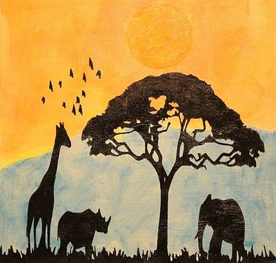 Glow In The Dark Painting - Savanna Glow In The Dark Day Time Image by Twilight Vision