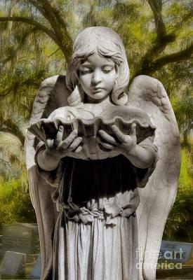 Savannah Bonaventure Cemetery Angel Art Print by Henry Kowalski