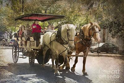 Savannah Carriage Ride Art Print