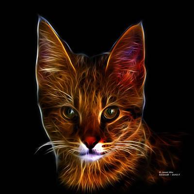 Digital Art - Savannah Cat - 5462 F by James Ahn