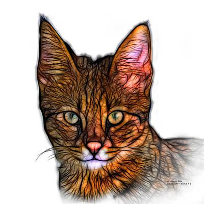 Digital Art - Savannah Cat - 5462 F S by James Ahn