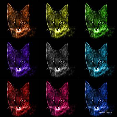 Digital Art - Savannah Cat Pop Art - 5462 F -bb by James Ahn