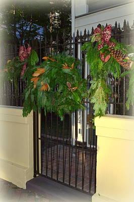 Savannah Christmas Wreath Original by Linda Covino