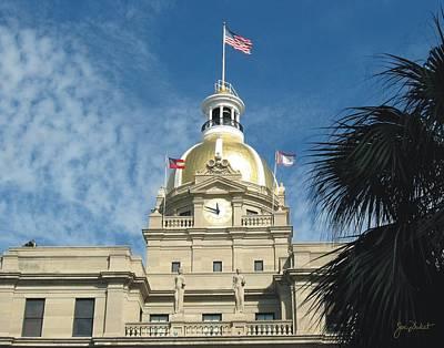 Photograph - Savannah City Hall by Joe Duket