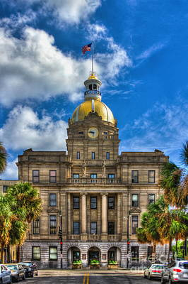 Photograph - Savannah City Hall by Reid Callaway