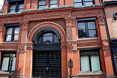 Savannah Cotton Exchange - B Art Print