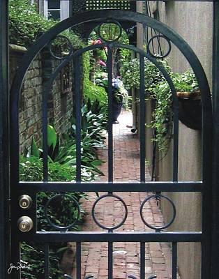 Photograph - Savannah Courtyard by Joe Duket
