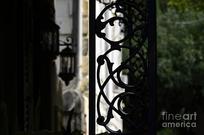 Photograph - Savannah Decorative Wrought Iron 2 by Allen Beatty