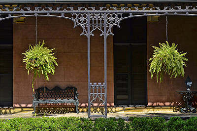 Photograph - Savannah Decorative Wrought Iron 3 by Allen Beatty