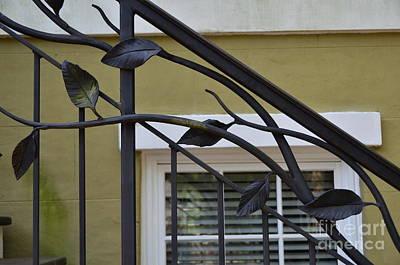 Photograph - Savannah Decorative Wrought Iron by Allen Beatty