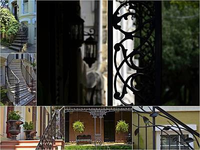 Photograph - Savannah Decorative Wrought Iron Collage 2 by Allen Beatty