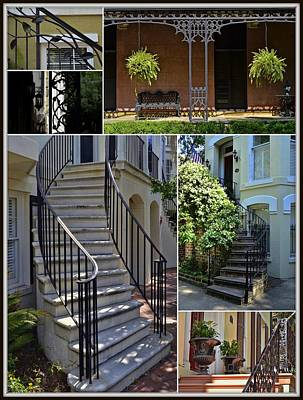Photograph - Savannah Decorative Wrought Iron Collage by Allen Beatty