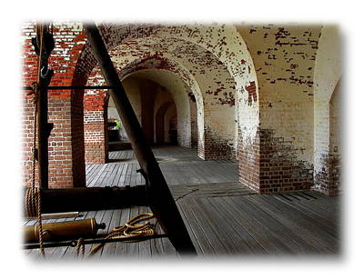 Photograph - Savannah Fort Pulaski Arches by Jacqueline M Lewis