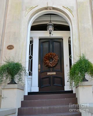 Photograph - Savannah Georgia Door Architecture - Savannah Victorian Homes Doors  by Kathy Fornal