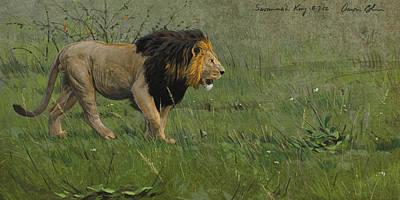 African Digital Art - Savannah King by Aaron Blaise