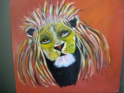 Art Print featuring the painting Savannah Lord by Sharyn Winters