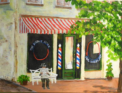 Savannah Barber Shop Art Print