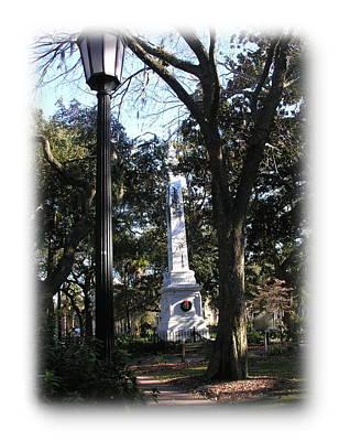 Photograph - Savannah Park Monument by Jacqueline M Lewis