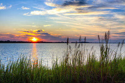 Photograph - Savannah River At Sunrise - Georgia Coast by Mark E Tisdale
