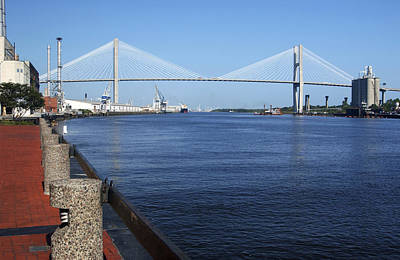 Photograph - Savannah River Bridge Ga by Bob Pardue