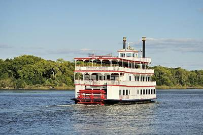 Savannah River Steamboat Art Print