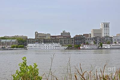 Photograph - Savannah Riverfront by Carol  Bradley