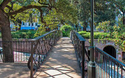 Savannah Riverfront Plaza Art Print