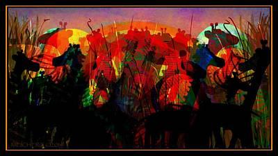 Savannah Safari Art Print