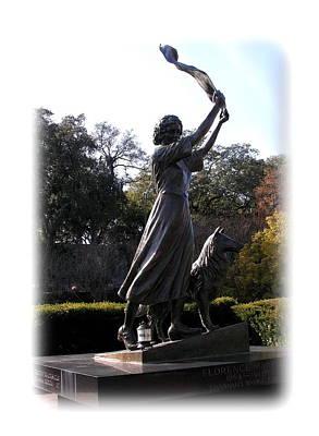 Photograph - Savannah Sculpture - Waving Girl by Jacqueline M Lewis