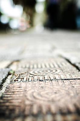 Photograph - Savannah Sidewalk Bricks by Anthony Doudt