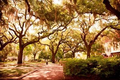 Photograph - Savannah Square by Bill Howard