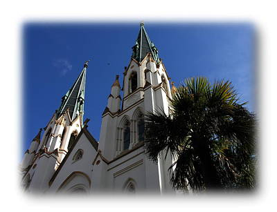 Photograph - Savannah - St. John The Baptist Cathedral by Jacqueline M Lewis