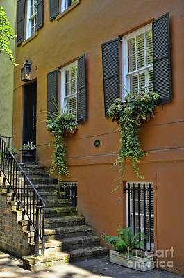 Photograph - Savannah Town House by Allen Beatty