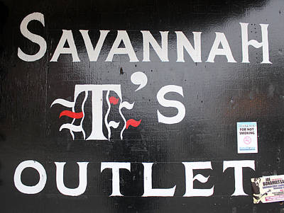 Savannah T's Outlet Art Print by Joseph C Hinson Photography