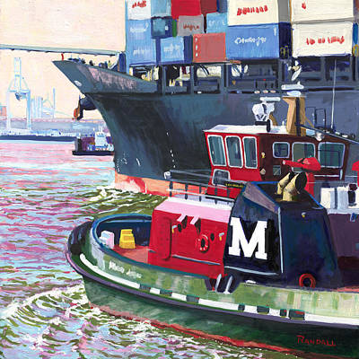 Painting - Savannah Tug by David Randall