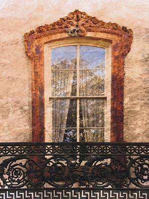 Photograph - Savannah Window And Railing by Joe Duket