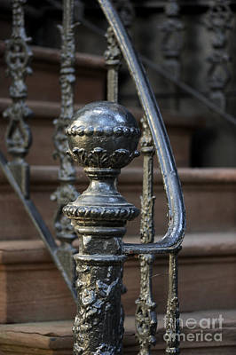 Photograph - Savannah Wrought Iron Newel Post by Nancy Greenland