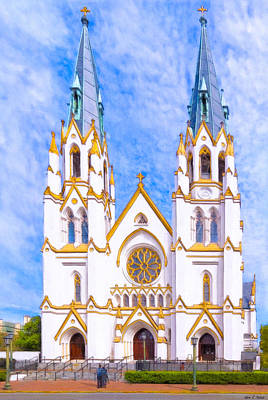 Photograph - Savannah's Fairytale Cathedral by Mark E Tisdale