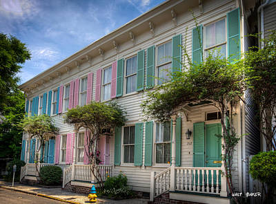 Photograph - Savannah's Rainbow Row by Walt  Baker