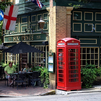 Photograph - Savannah's Six Pence Pub by Greg and Chrystal Mimbs