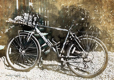Save Honolua - Lahaina Bicycle Art Print by Paulette B Wright