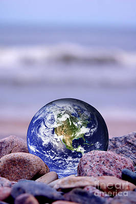 America Photograph - Save The Earth by Michal Bednarek