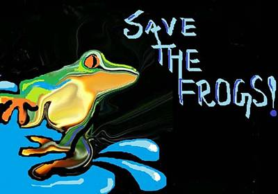 Digital Art - Save The Frogs by Poornima M