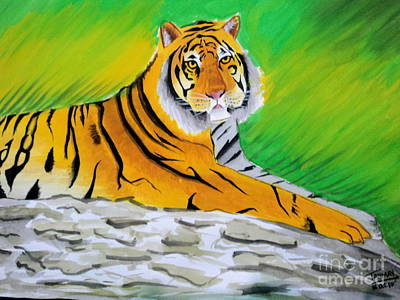 Painting - Save Tiger by Tanmay Singh