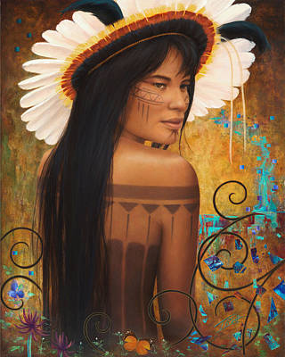 Indian Tribal Women Painting - Save Xingu by Sharon Irla