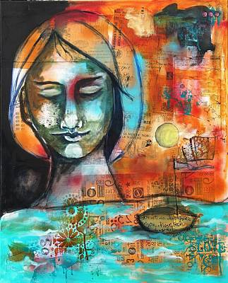 Mixed Media - Saved By Grace by Carrie Todd