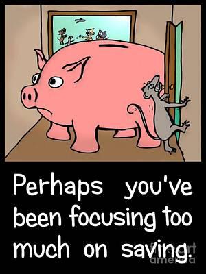 Saving Pig Art Print